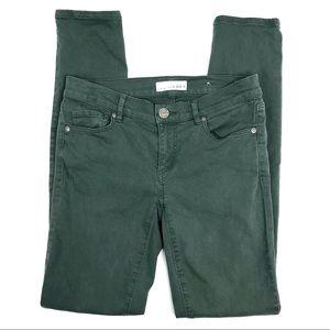 Loft Green Modern Skinny Jeans Size 24